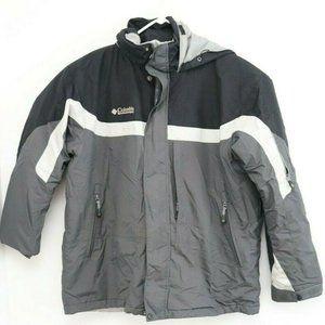 Mens Columbia Black and Grey Winter Coat Jacket